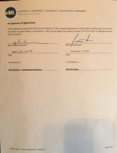 EMI signatures on agreement